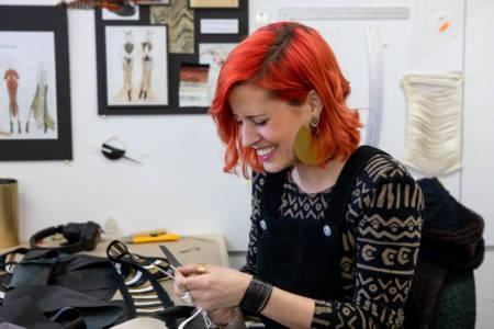Saxon Lenehan in the NBCCD Fashion Studio
