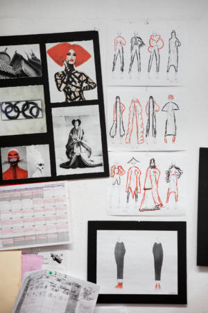Scott Moore's inspiration and illustrations in the NBCCD Fashion Studio