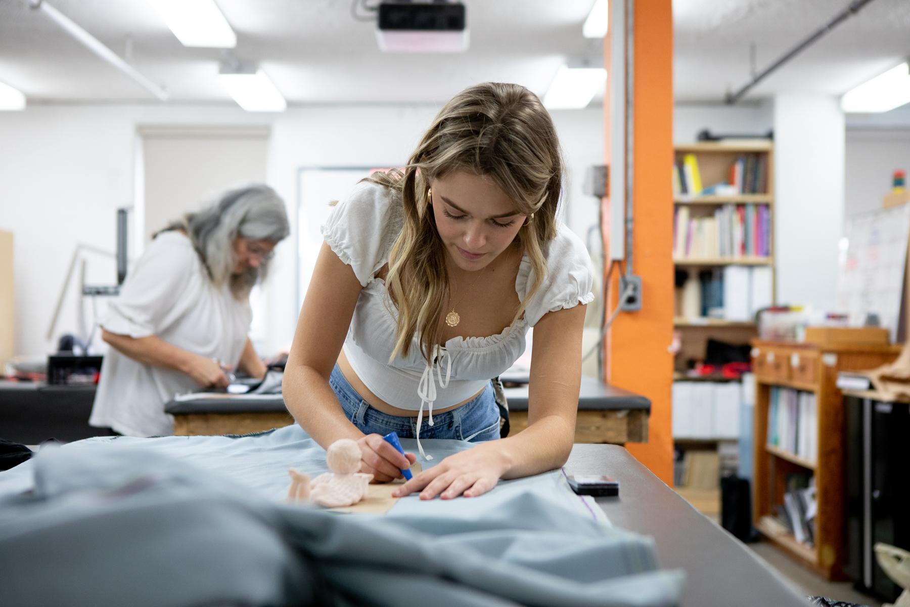 Fashion student Marlo Hunt